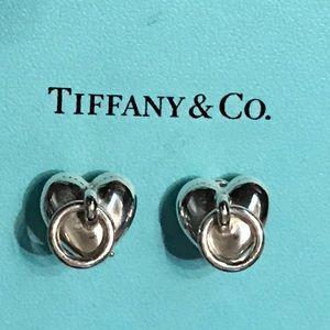 Tiffany & Co. Jewelry - Tiffany & Co Heart Circle Dangle Clip On Earrings
